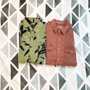 Mens Small Casual Button Down Bundle
